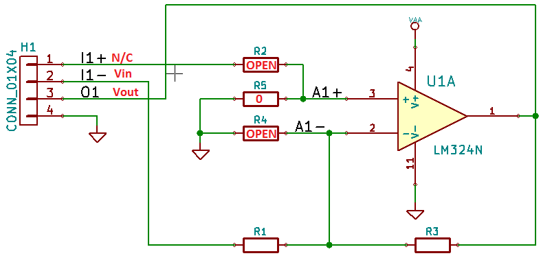 Inverting Amplifier Parts Population